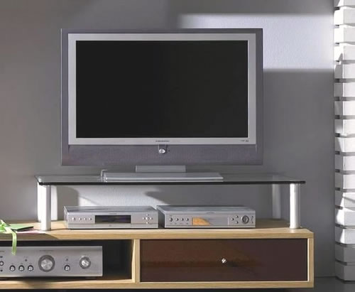 VCM Lowboard- und Wohnwand-Glasaufsatz Felino-Mini (Hifi- und TV-Moebel)